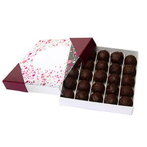 Boite_Carré_chocolats_Truffes_Noires